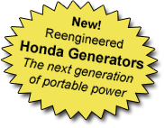 New! Honda Reengineered Honda Generators